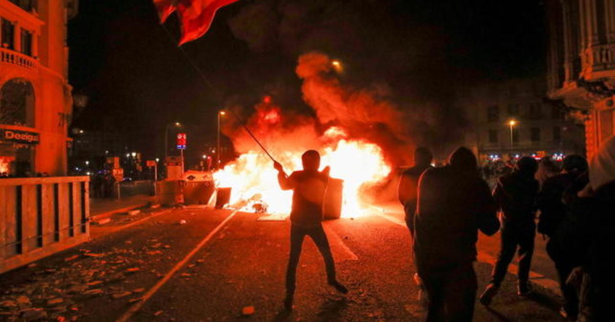 Worldview Free Speech Protests Turn Violent In Spain