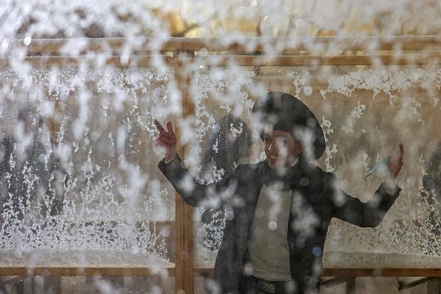 ISRAEL-PALESTINIAN-WEATHER-SNOW