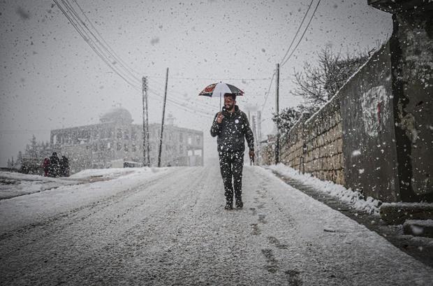 Snowfall in Idlib