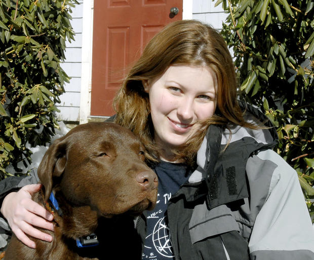 Gray resident Rebecca Wilkinson, 19 years old, is autistic and recently obtained a new service dog n