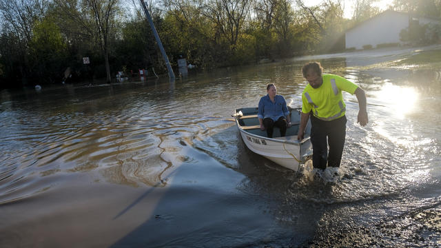 Two Dams Burst Flooding Town Of Midland, Michigan