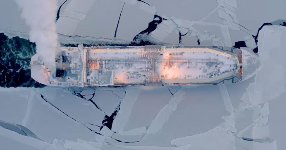 Russian tanker cuts a previously impossible path through the warming Arctic