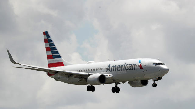 An American Airlines plane prepares to land at the Fort Lauderdale-Hollywood International Airport on July 16, 2020, in Fort Lauderdale, Florida.