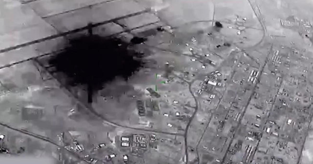 Never-before-seen video of the attack on Al Asad Airbase
