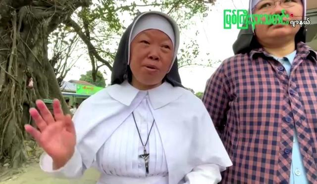 """Shoot me instead,"""" Myanmar nun tells police about to crack down on anti-junta protesters - CBS News"""