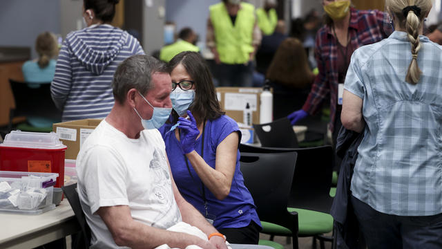 Johnson & Johnson Vaccine Administered At Colorado Fire Department