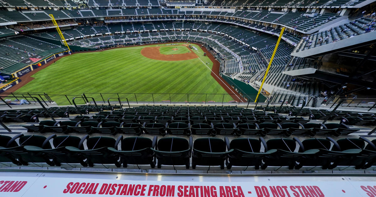 Texas Rangers allowing 100% capacity at stadium for opening day - CBS News