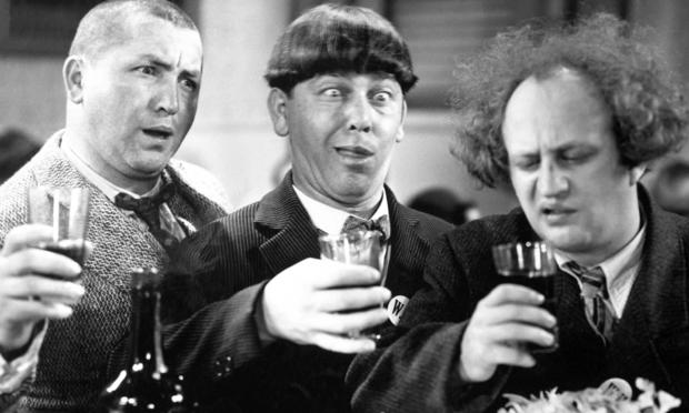 The Three Stooges with Drinks