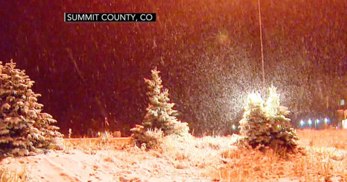 Severe hail and snow hit Colorado