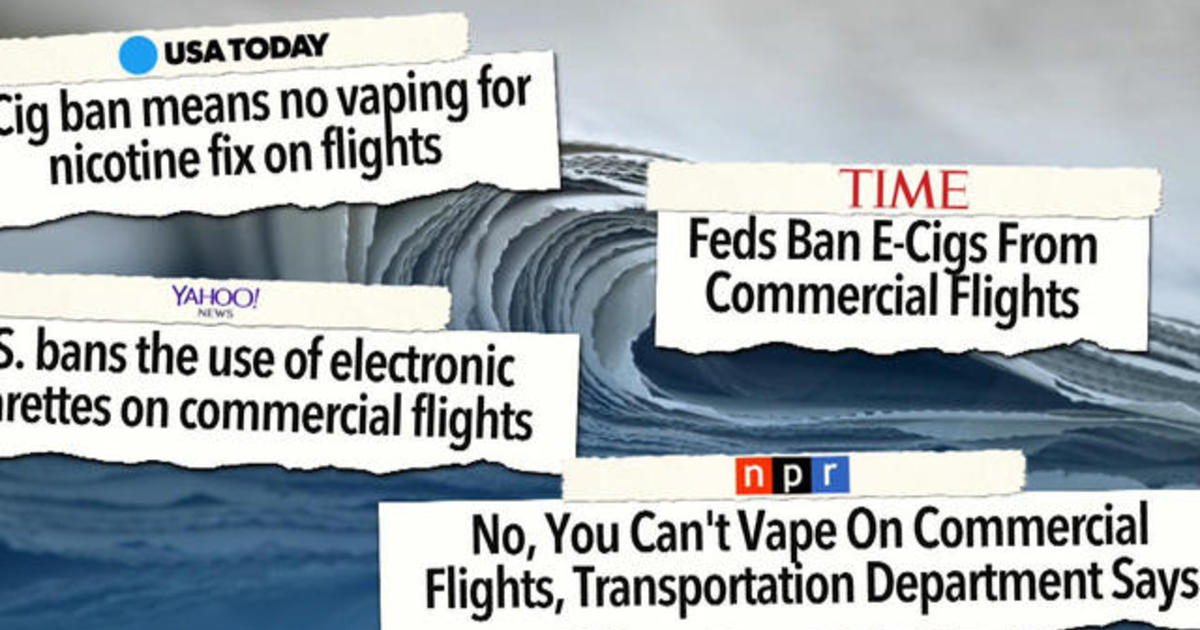 E-cigarettes banned on planes
