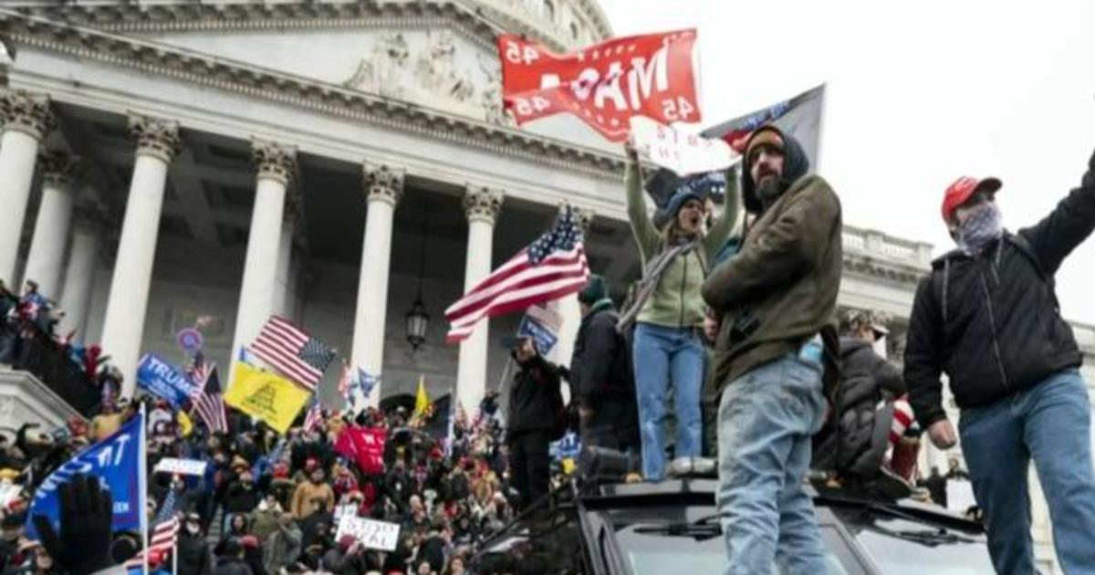 Oath Keepers member first to plead guilty in Capitol riot – CBS News
