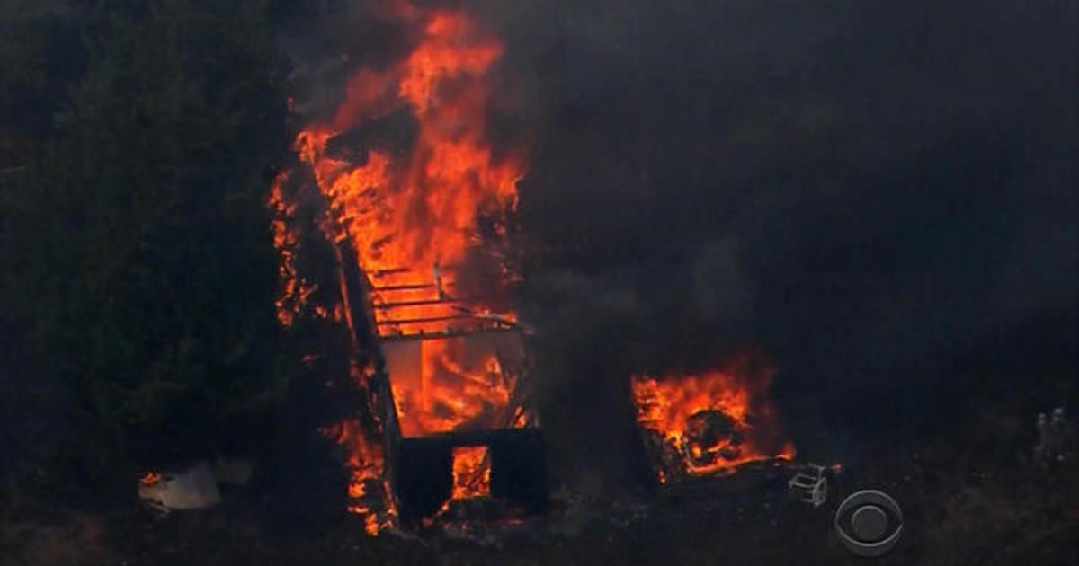 Wildfires raging in Oklahoma