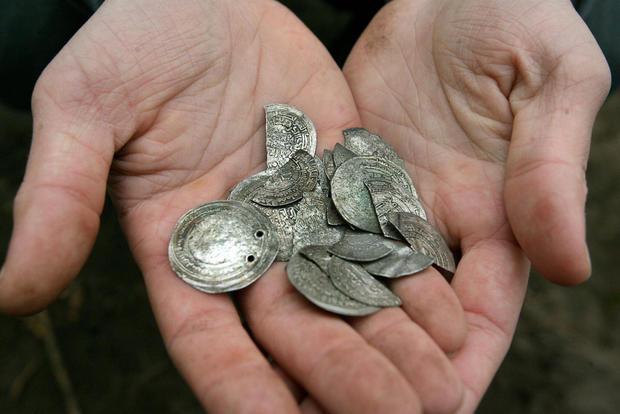 A handful of Arabic 10th century silver