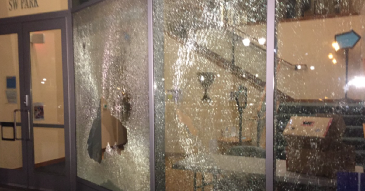 Riot declared after windows smashed in Portland protests