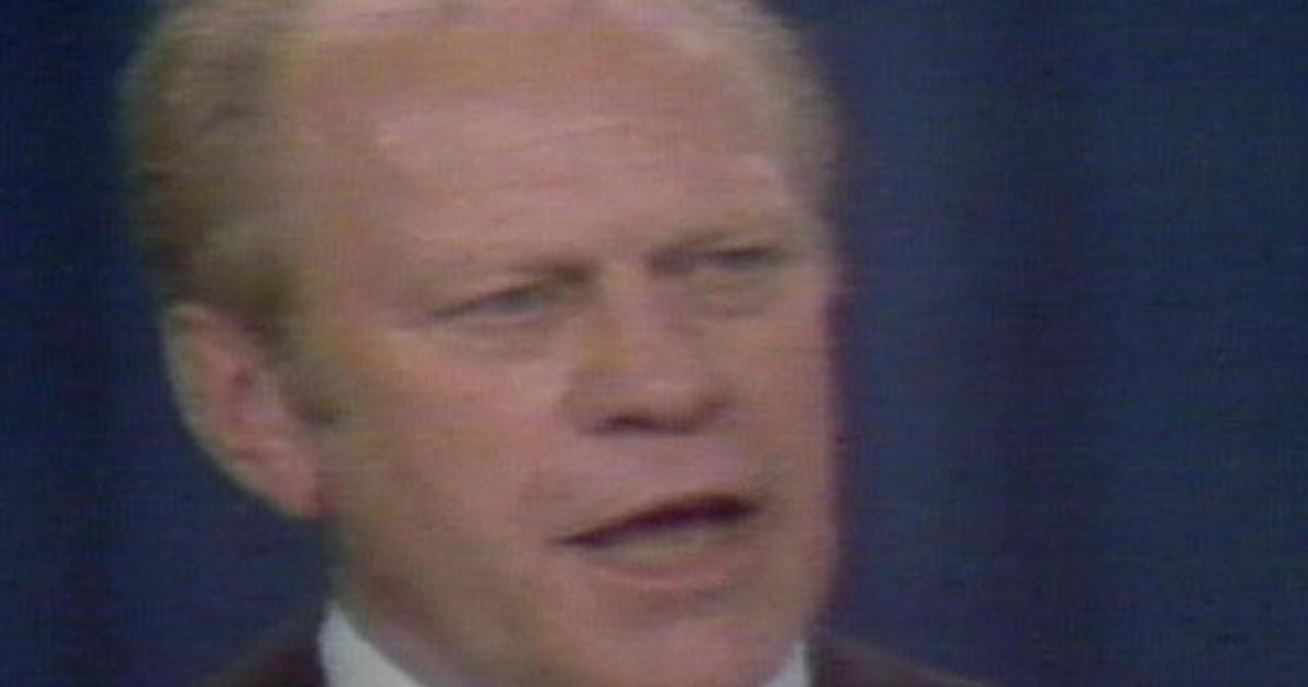 1976: Gerald Ford gives nomination acceptance speech