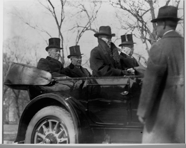 Wilson and Harding on Inauguration Day