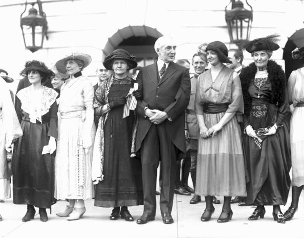 Marie Curie with President Warren Harding