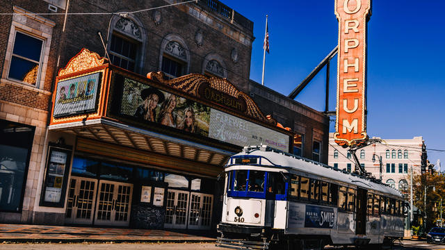 Trolley in downtown Memphis