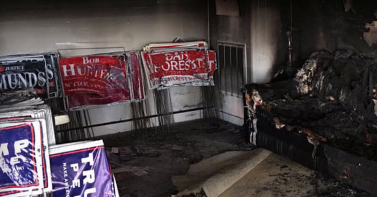FBI and ATF investigate firebombing of N.C. GOP office