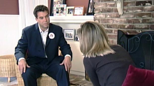 Scott Peterson and reporter Gloria Gomez