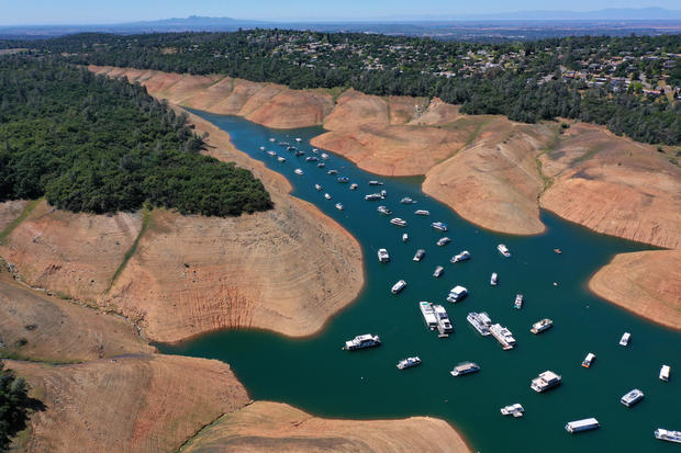 California's Current Drought Evident By Low Levels In Lake Oroville