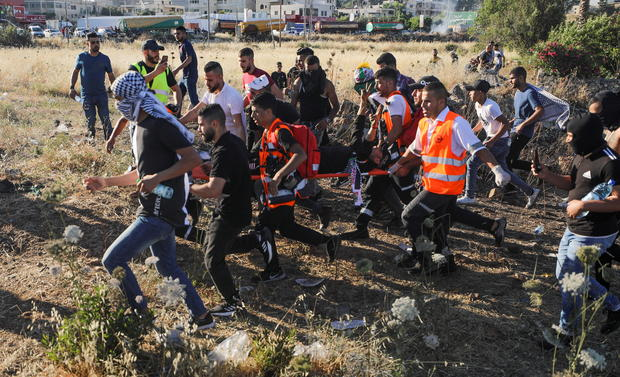 Palestinians protest over Israel-Gaza cross-border fighting
