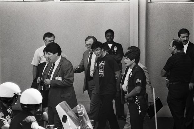 Serial Killer Richard Ramirez Leaving Police Station