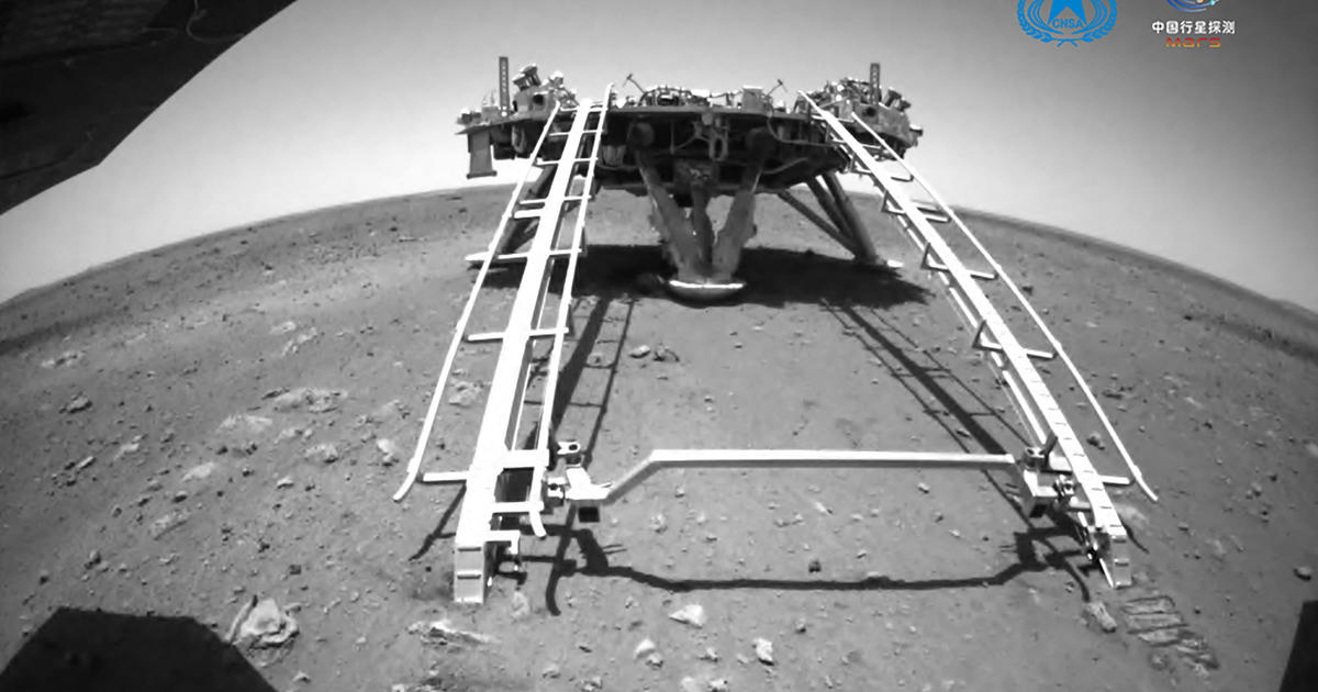 China's solar-powered Mars rover is now driving on the red planet