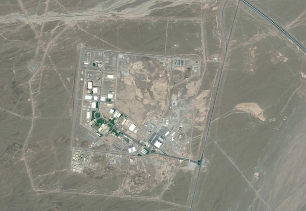 NATANZ FUEL ENRICHMENT PLANT, IRAN -- DECEMBER 24, 2013: Maxar satellite imagery of the Natanz hardened Fuel Enrichment Plant in Iran.
