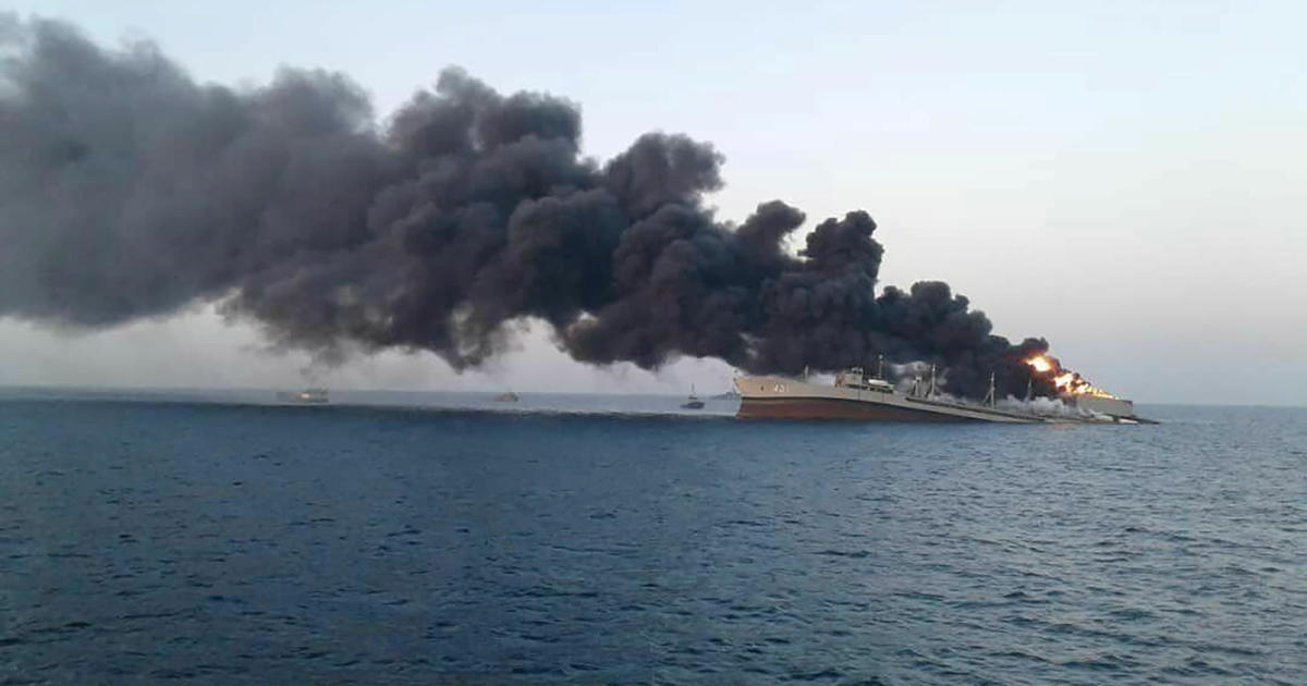 Kharg, biggest warship in Iran's navy, catches fire and sinks in the Gulf  of Oman under unclear circumstances – Au Bpositive