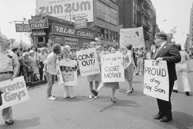 Gay Pride Demonstrators With Signs