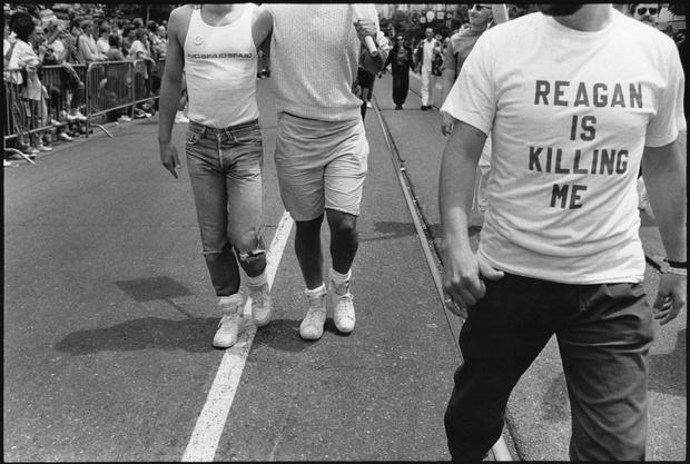 'Reagan Is Killing Me' Shirt At The International Lesbian & Gay Freedom Day Parade