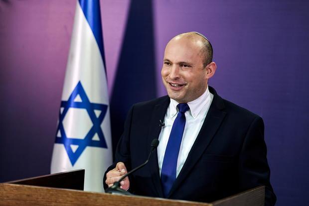 FILE PHOTO: Naftali Bennett gives a statement at the Knesset, Israel's parliament, in Jerusalem
