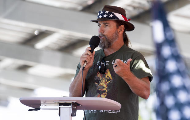 Speaker at pro-Trump rally in Santa Ana, California