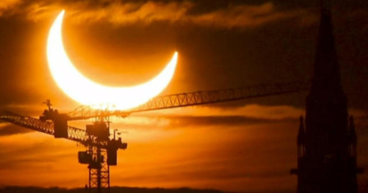 """Spectacular views of """"ring of fire"""" solar eclipse"""
