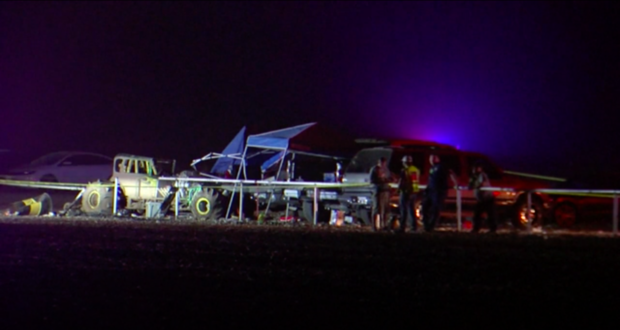 Texas racetrack crash scene