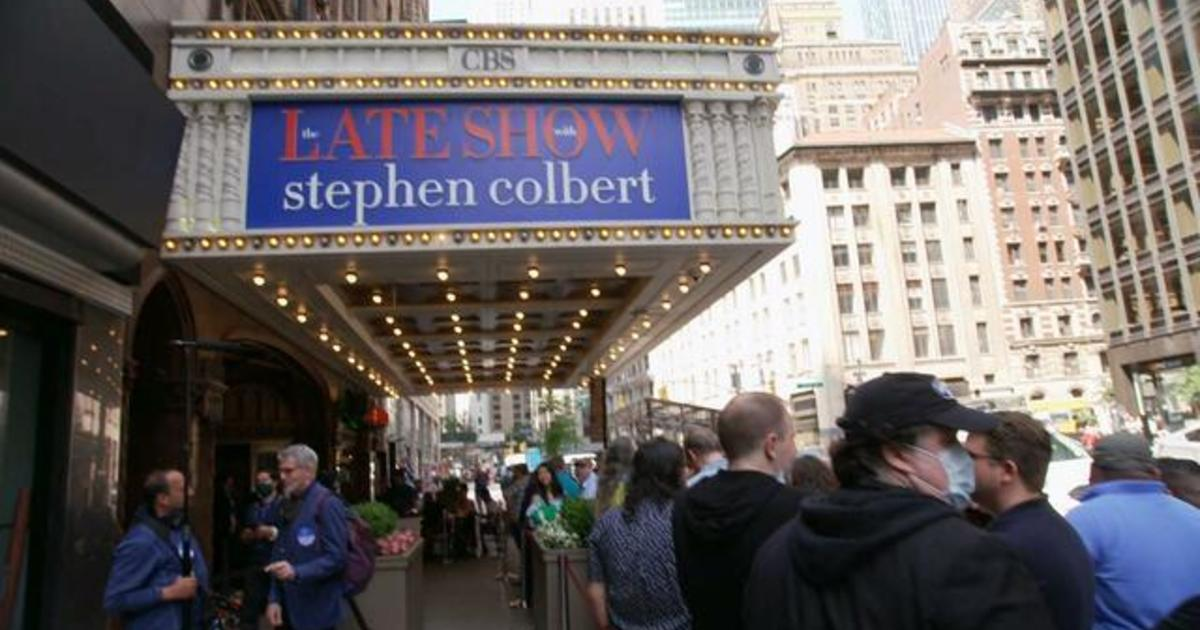 """""""The Late Show with Stephen Colbert"""" welcomes back live audiences to Ed Sullivan Theater"""