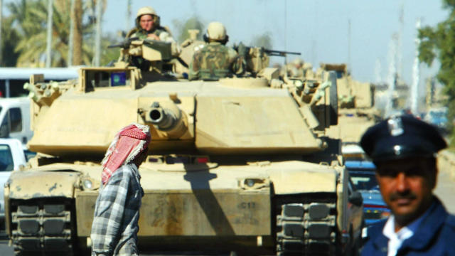 A US Abrams tank of the US army's 4th In