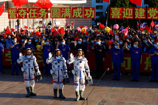 Launch of Long March-2F Y12 rocket in Gansu, China
