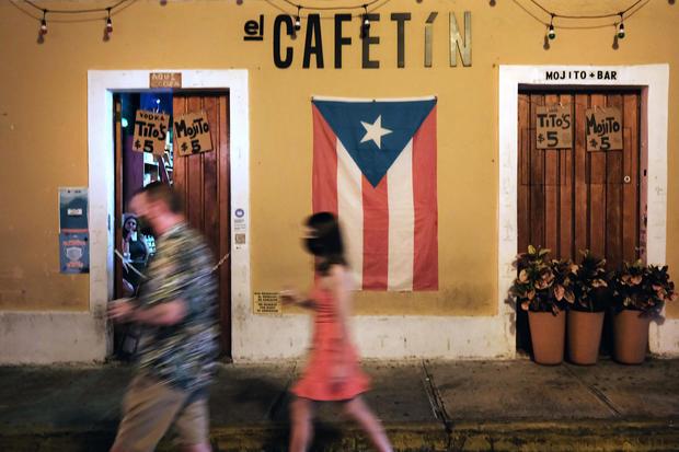 People walking in Old San Juan, Puerto Rico