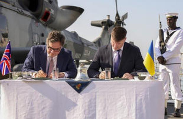 HMS DEFENDER HOSTS HIGH LEVEL ENGAGEMENT DAY IN UKRAINE