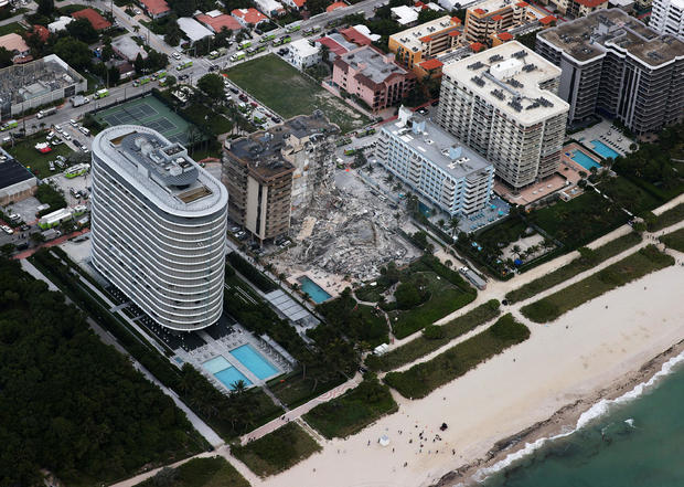 Residential Building In Miami Partially Collapsed