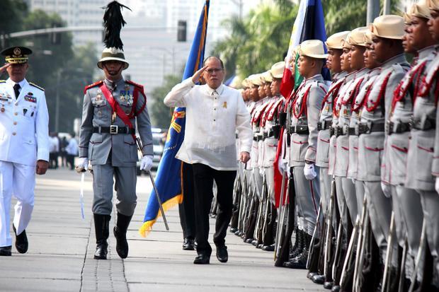 President Benigno Aquino III arrival in the celebration of