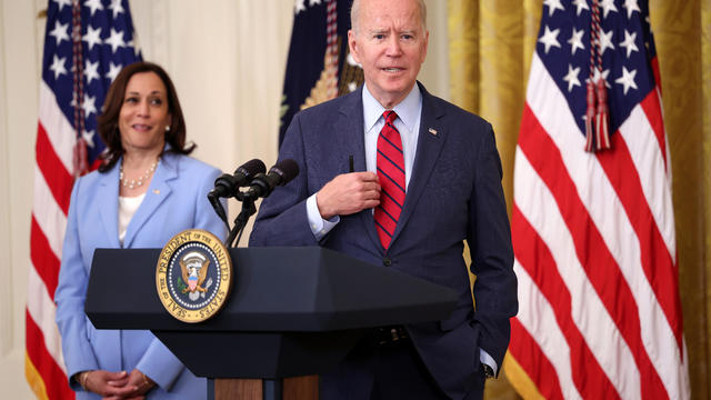 President Biden Meets With Bipartisan Group Of Senators At The White House On Infrastructure Deal