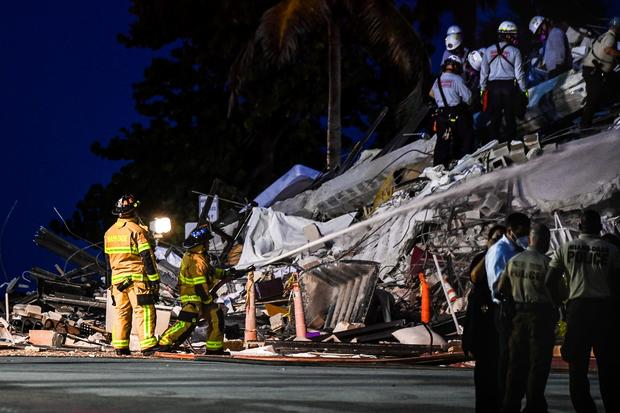 Collapsed high-rise condo building in Surfside, Florida