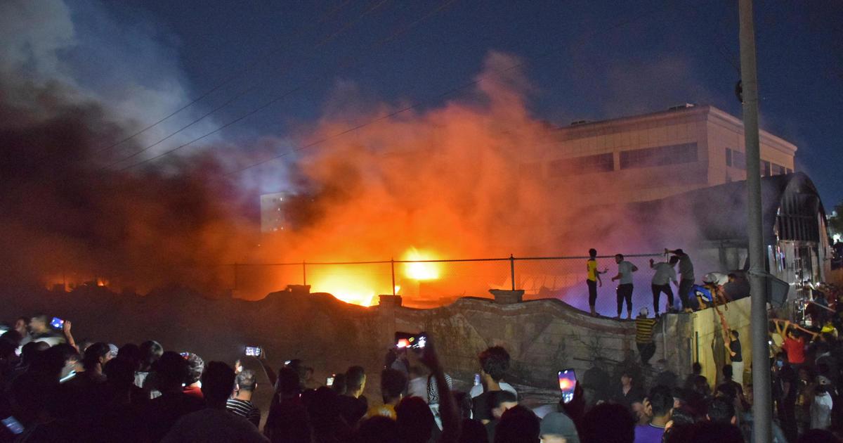 Fire tears through COVID ward, killing at least 64 people in Iraqi hospital
