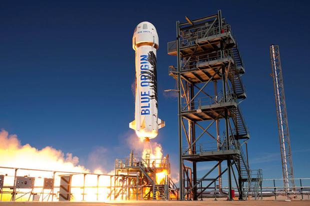 New Shepard rocket test launch