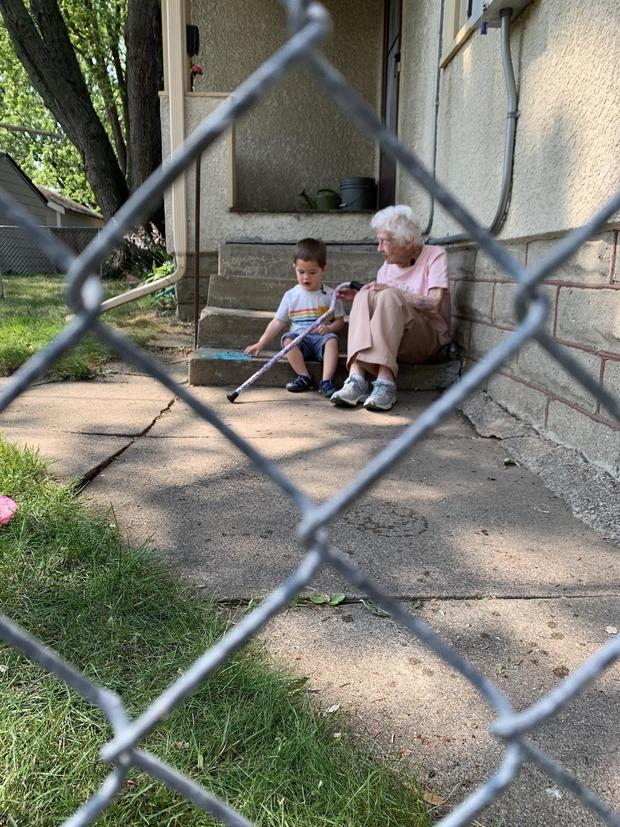 99-year-old woman and 2-year-old boy formed an unlikely friendship through their fence during the pandemic