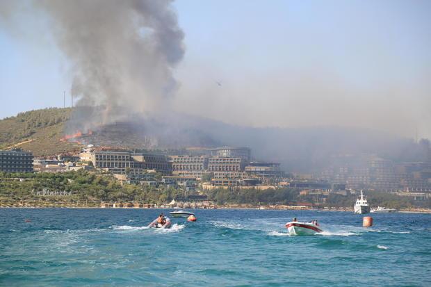 Forest fire in Turkey's Mugla
