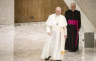 Pope Francis Leads His First Audience At Vatican After Surgery